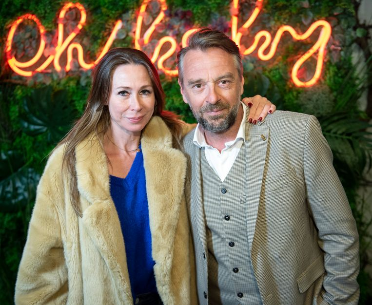 Tom Waes met echtgenote Mieke