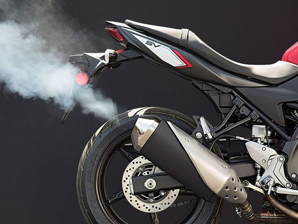 Motorfietsen behoren tot de grootste vervuilers van het Nederlandse wegennet.