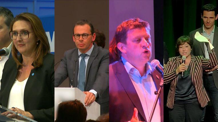 Gwendolyn Rutten, Wouter Beke, John Crombez en Meyrem Almaci