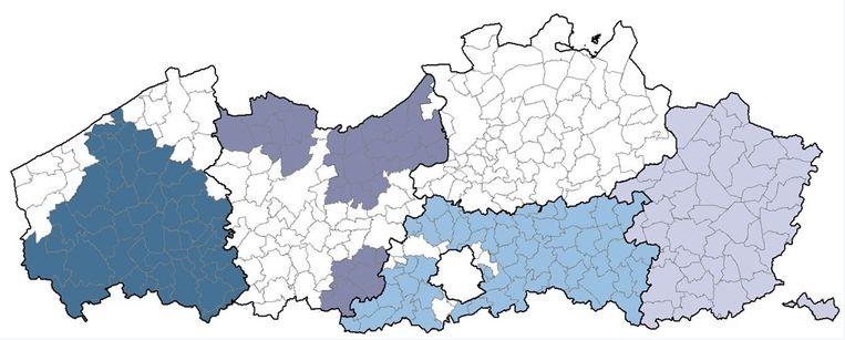In deze gemeenten is De Watergroep actief, en zullen de tarieven dus stijgen.