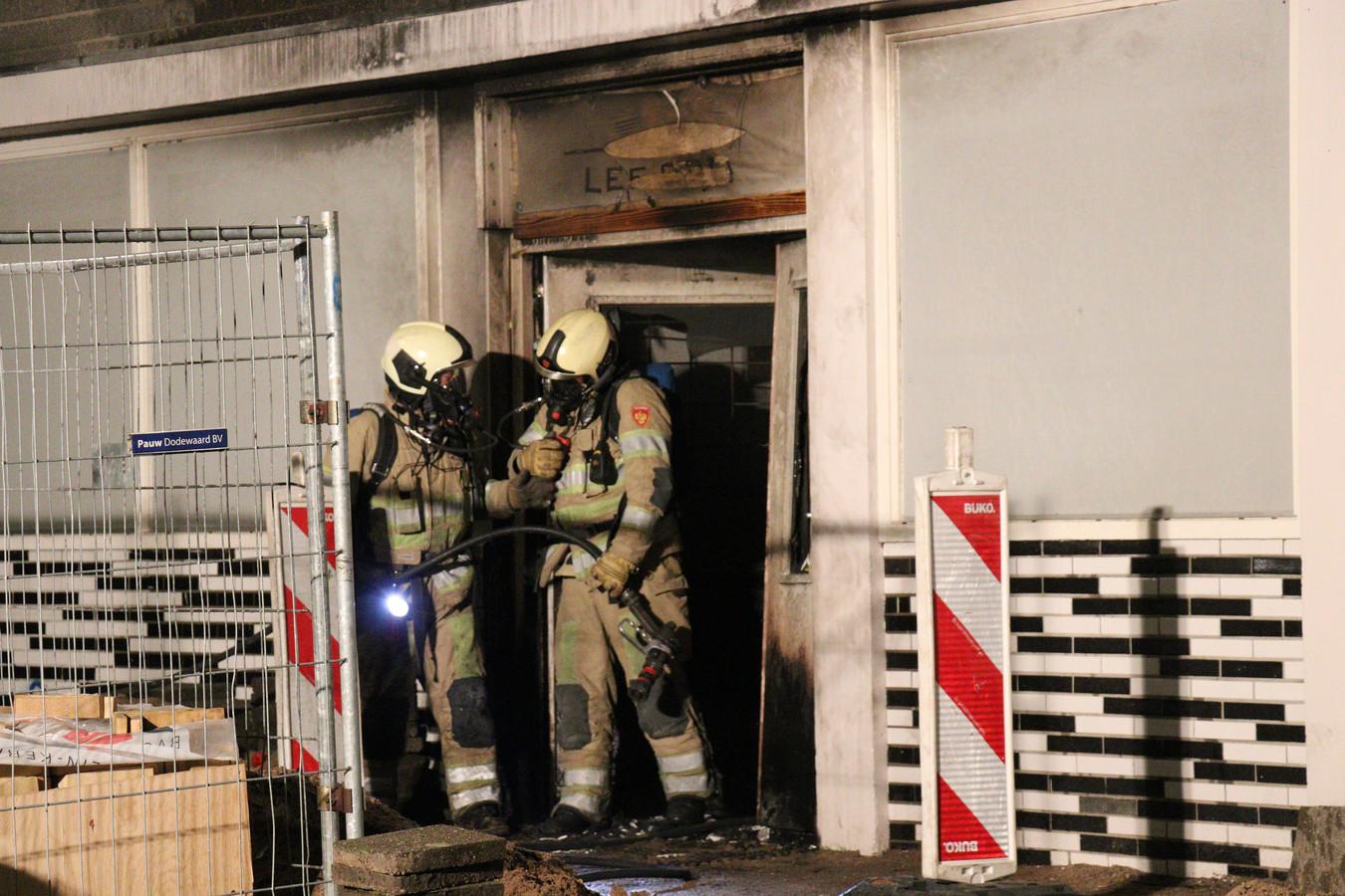 Politie doet onderzoek na brand bij sportschool in Utrecht