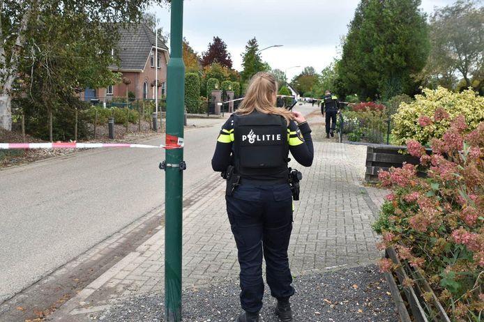 De gewonde man werd in de Wielstraat aangetroffen