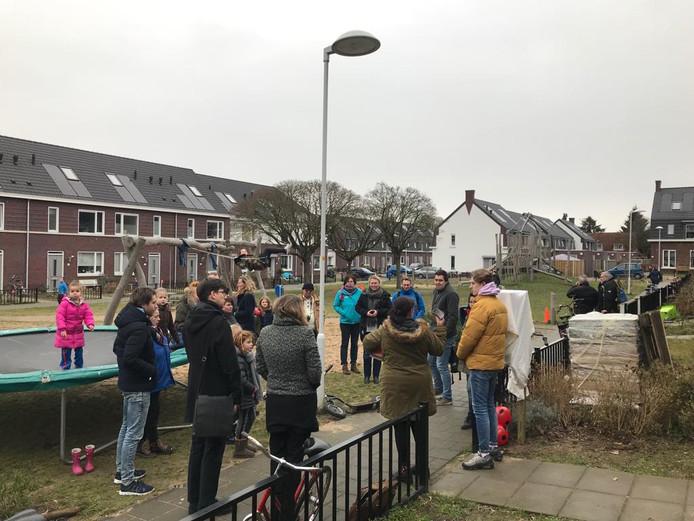 De gezamenlijke huiskamer bij het speelterrein aan het Witmondplein in Wageningen
