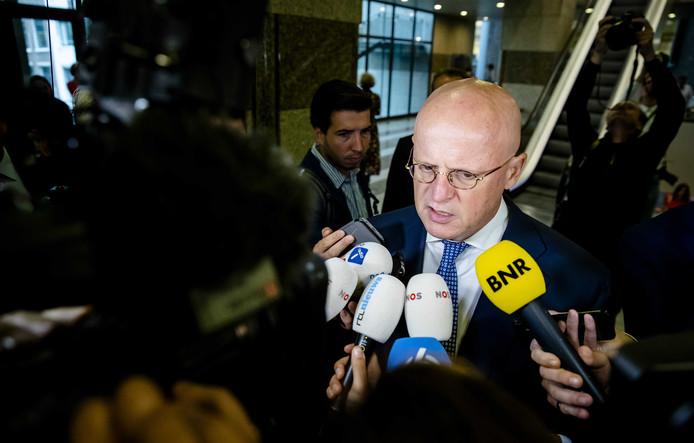 Minister Ferd Grapperhaus (Justitie en Veiligheid, CDA) tijdens de tweede dag van de Algemene Politieke Beschouwingen in Den Haag.