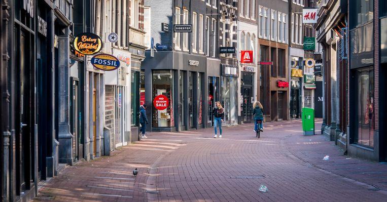 In veel winkels viel het werk stil door de lockdownmaatregelen. Beeld ANP