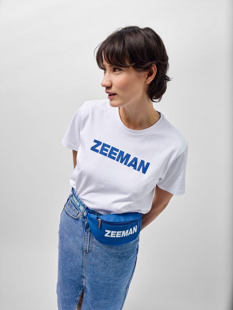 T-shirt met heuptasje uit de laatste fancollectie van Zeeman.