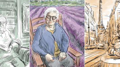 """Joris tekent originele portretten van rusthuisbewoners: """"Ik maak hen weer zichtbaar"""""""