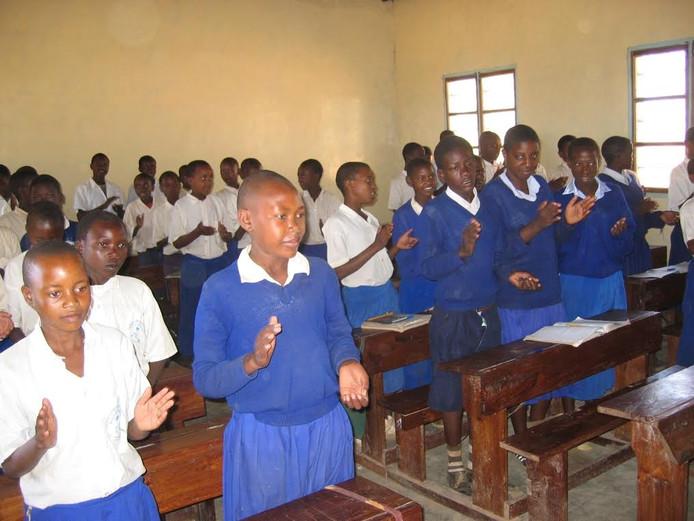Een school in Tanzania.