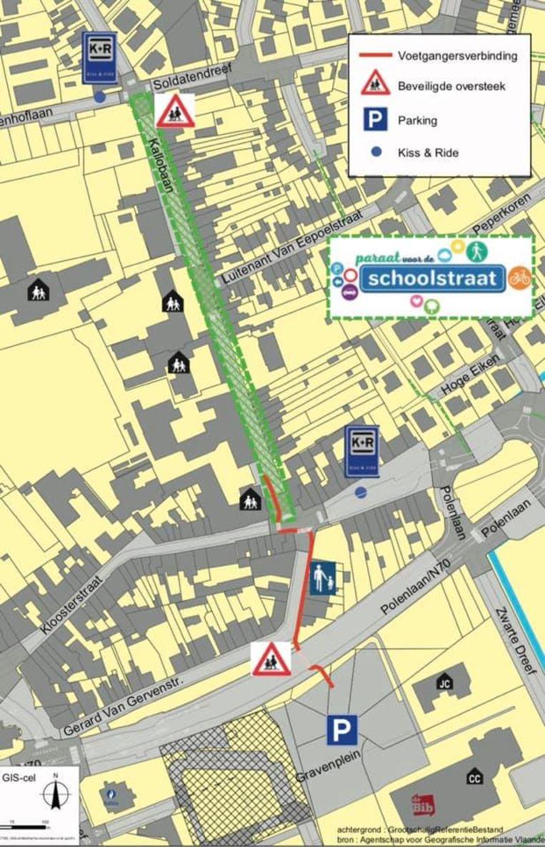 De Kallobaan is tussen de Beukenhoflaan en de Kloosterstraat een schoolstraat.