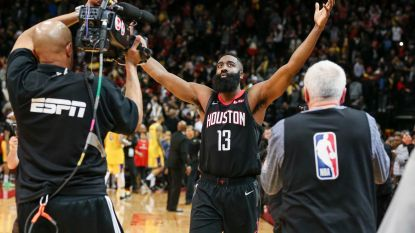VIDEO. James Harden leidt Houston in NBA naar nipte zege tegen Lakers