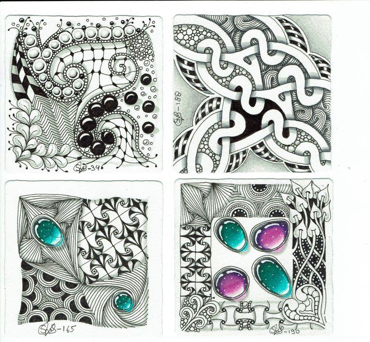 Bij Zengem wordt eerst een levensechte edelsteen in kleur op het papier wordt getekend Beeld Stefanie van Leeuwen