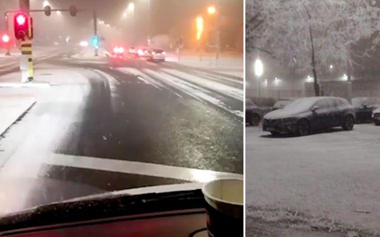 Alles bedekt onder een wit laagje in Mol (links). Ook in Sint-Truiden heeft het gesneeuwd.