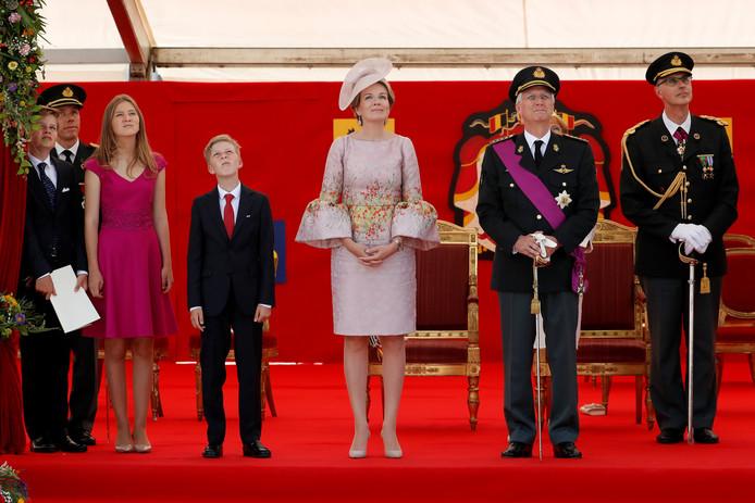 La famille royale lors des festivités de la fête nationale, il y a deux ans (archives)