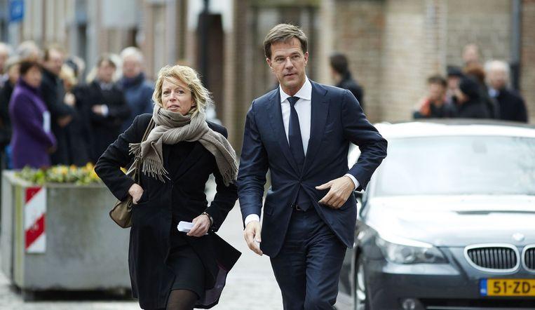 Premier Mark Rutte en Kajsa Ollongren in 2014. Beeld anp