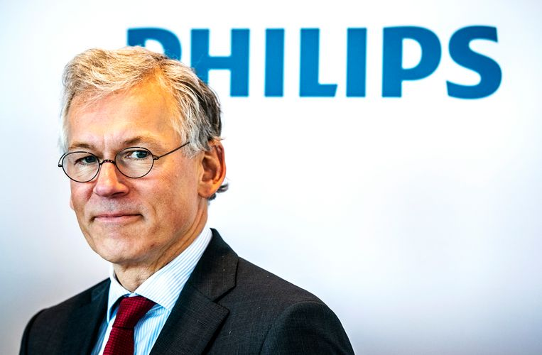 CEO Frans van Houten net op tijd verlost van de lampendivisie. Beeld null