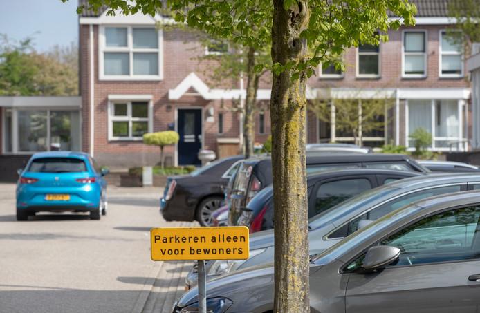 Druk parkeren in de Rietkampen.