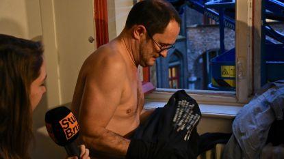 'Kerstman' Franky De Smet-Van Damme verrast Van Quickenborne tijdens schepencollege