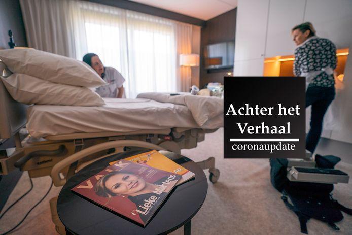 UDEN - Een hotelkamer in een speciaal ingericht geboortecentrum in een hotel in Uden.