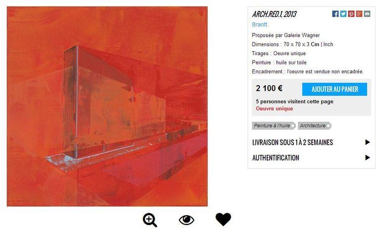 4 Artsper - ARCH.RED.1 (2013) - 70x70cm - Brantt - Beeld .
