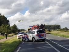 Twee traumahelikopters en brandweer richting Nijkerk na botsing met meerdere voertuigen