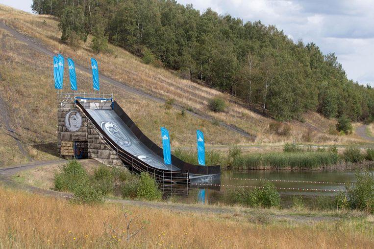 Een van de spectaculaire attracties op de site van de Dumontmijn.
