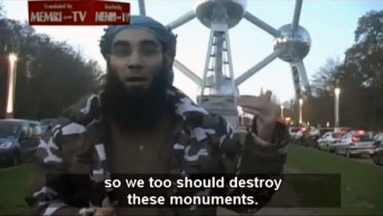 Een beeld uit een filmpje van Sharia4Belgium. Beeld Memri TV