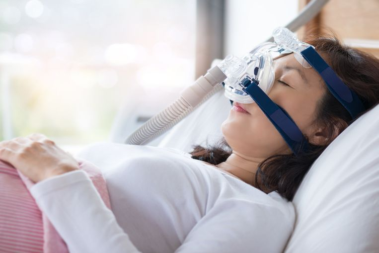Apneu behandeling in een slaapcentrum. Beeld Getty Images