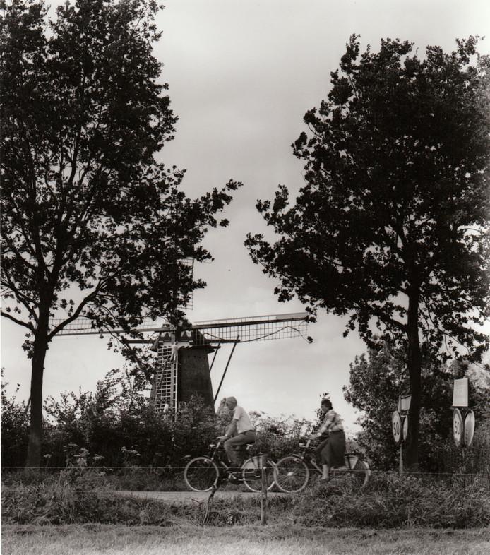 De molen bij Hapert gefotografeerd in 1985.