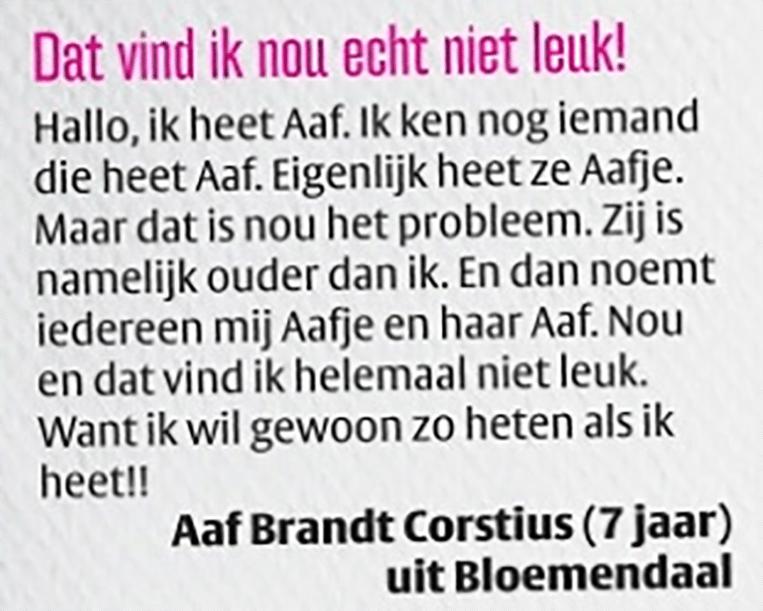 Een brief van een jonge Aaf Brandt Cortius, columnist en televisiemaker. Beeld VPRO