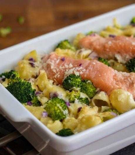 Wat Eten We Vandaag: Pasta ovenschotel met zalm en broccoli