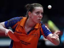 Tafeltennissters grijpen naast eerste kans op kwalificatie Olympische Spelen