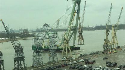 Brabo zet kraan van 145 ton op zijn plaats
