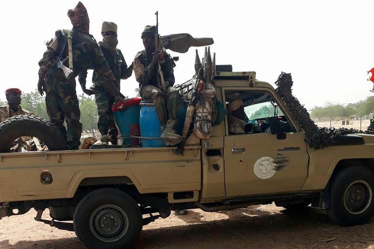 Illustratiebeeld. Soldaten van het leger van Tsjaad.