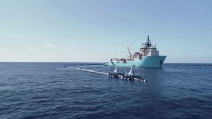 Plasticvanger van Ocean Cleanup terug naar oceaan