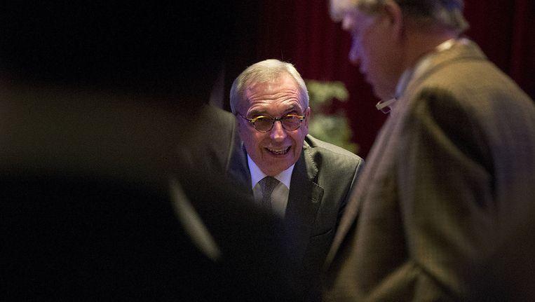 Van Rey tijdens een besloten ledenvergadering van de VVD in Roermond. Beeld ANP