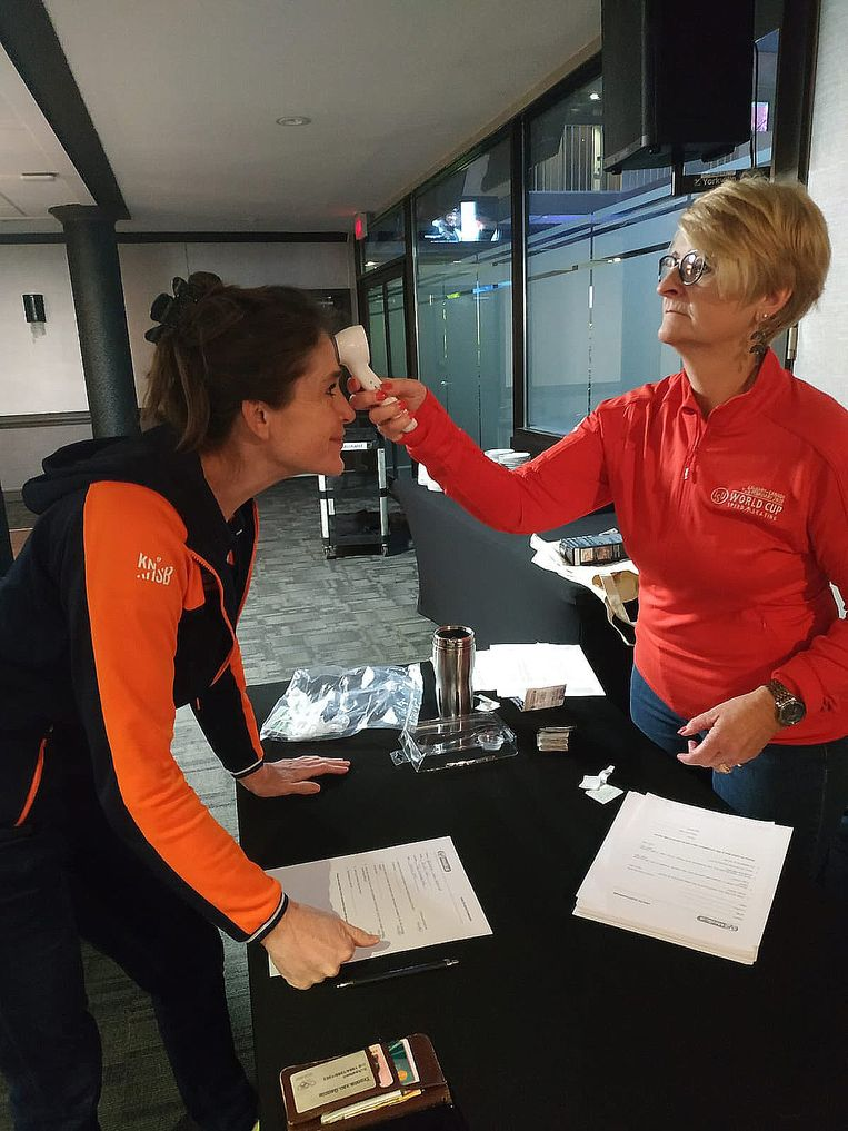 Yvonne van Gennip deelde deze foto op haar Twitter account.  Beeld Twitter