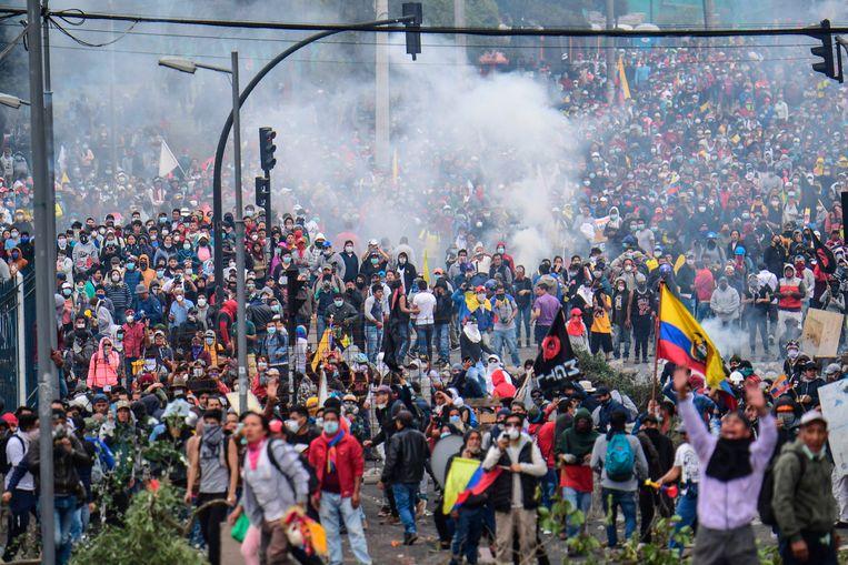 Betogers in hoofdstad Quito