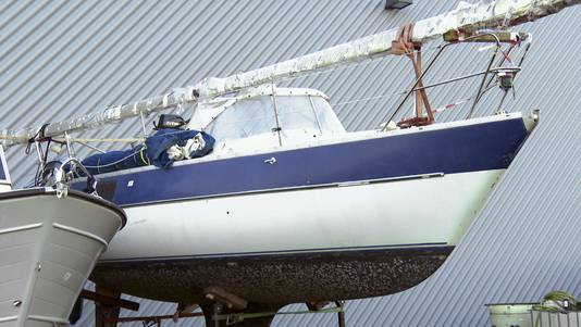 De zeilboot van Djarno P. en Sebastiaan van B.