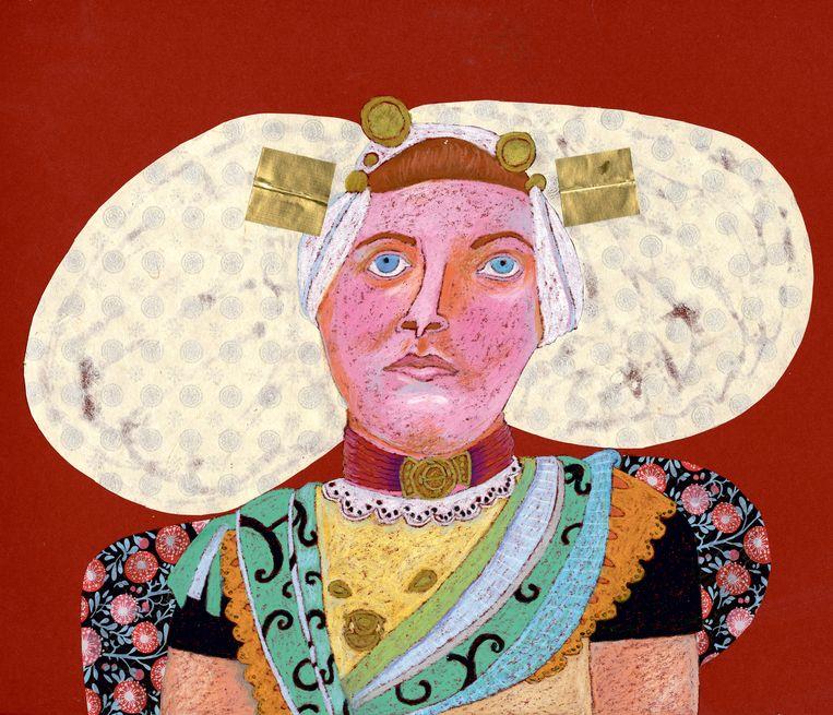 Guida Joseph tekende de Zeeuwse wortels van haar moeder, de tics van haar vader en Duitse gasmaskers. Beeld