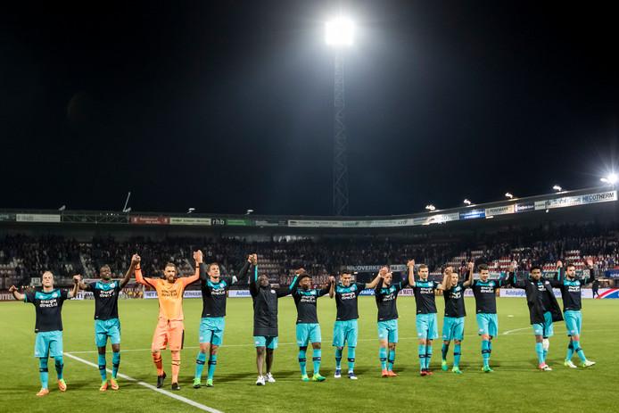 PSV viert de zege bij Sparta.