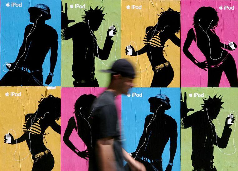 Advertentie voor de iPod. © AFP Beeld