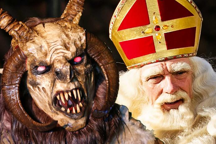 Sinterklaas en Krampus: het Zuid-Duitse en Oostenrijkse hulpje van Sinterklaas.