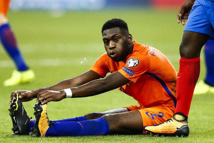 Timothy Fuso-Mensah, afgelopen donderdag op de rechtsbackpositie van Oranje, baalt