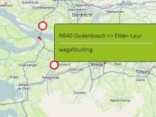 N640 dicht tussen Oudenbosch en Etten-Leur door ongeluk