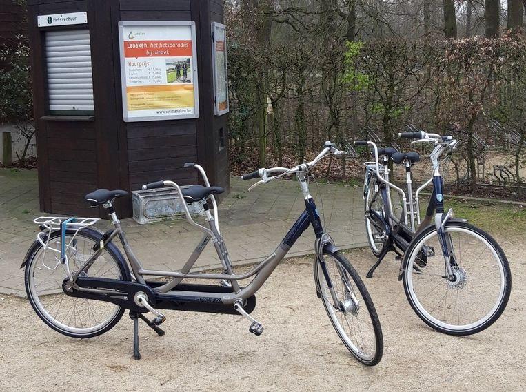 Een dagje happen en trappen kost 41.95 euro, excl. de huur van de fietsen