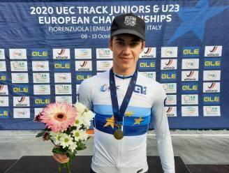 """Europees kampioen baanwielrennen Noah Vandenbranden (18) droomt van Olympische spelen: """"Maar na EK even uitrusten"""""""
