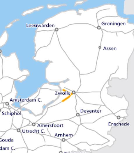 Geen Sprinters van Zwolle naar 't Harde en Kampen Zuid