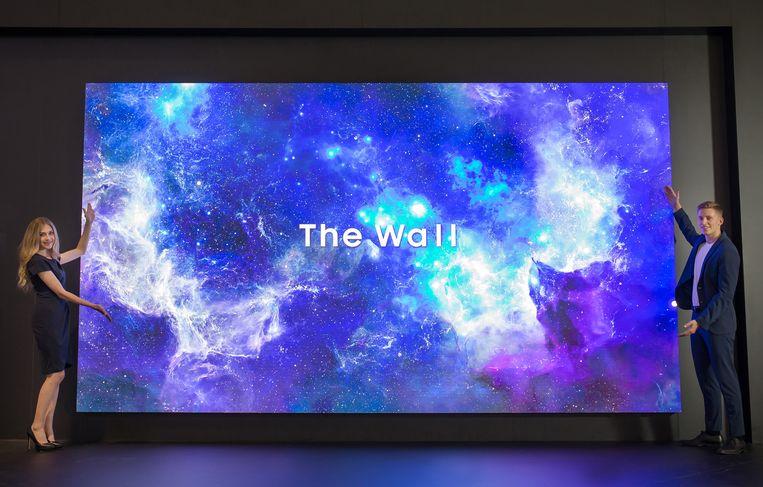 The Wall, Samsungs concept van een Microled-scherm voor professionele doeleinden. Het duurt nog wel eventjes voordat zo'n schermen er komen in een consumentenproduct.