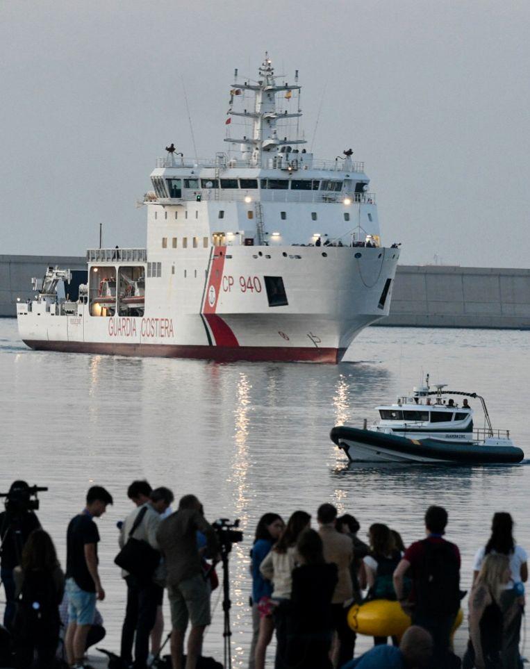 De Dattilo voer vanochtend rond half 7 de haven van Valencia binnen.
