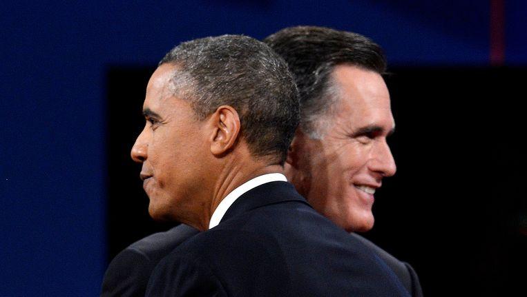 President Barack Obama en Mitt Romney. Beeld EPA